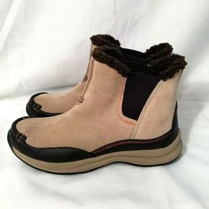 Land's End Boots Hiking Pull On Tan Leather
